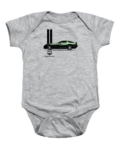 Dodge Viper Snake Green Baby Onesie