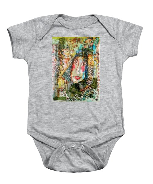 Doe Eyed Girl And Her Spirit Guides Baby Onesie