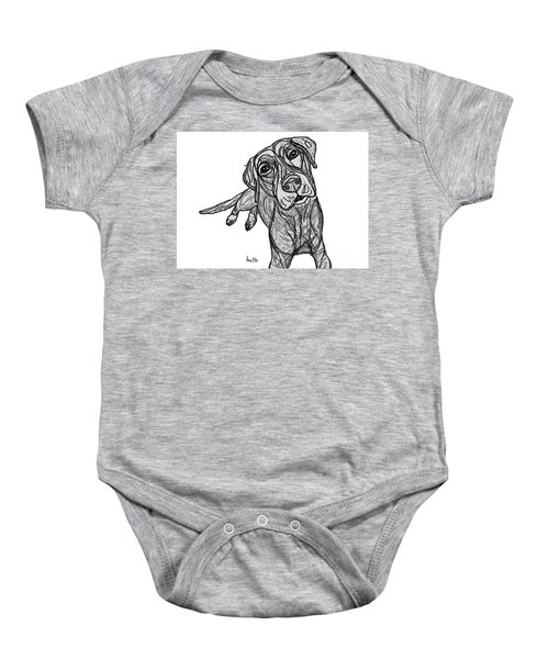 Dog Sketch In Charcoal 10 Baby Onesie