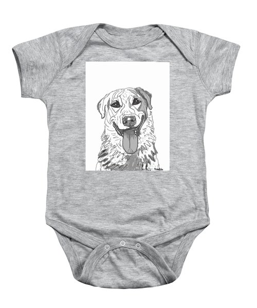 Dog Sketch In Charcoal 2 Baby Onesie