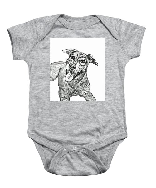 Dog Sketch In Charcoal 5 Baby Onesie