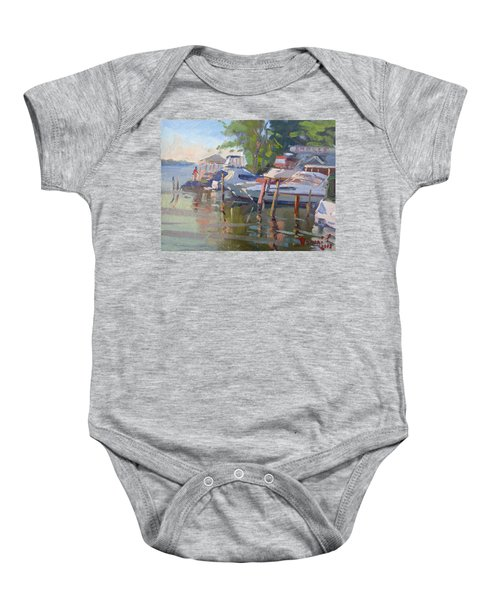 Docks At The Shores  Baby Onesie