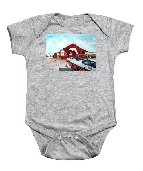 Dolphin Dock II Baby Onesie