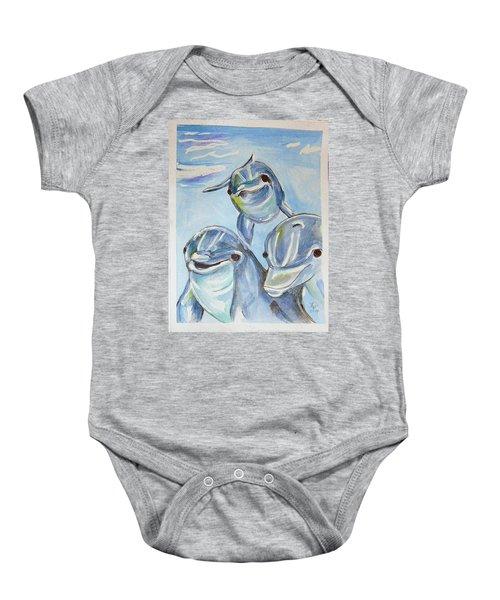 Dolphins Baby Onesie