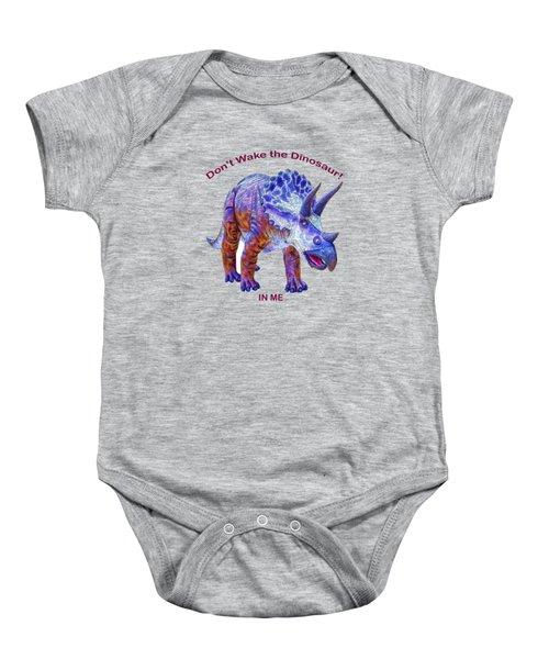 Dont Wake The Dinosaur Baby Onesie