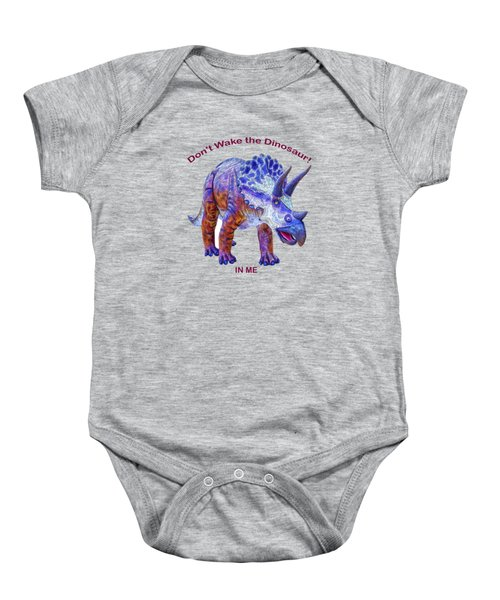Dont Wake The Dinosaur Baby Onesie