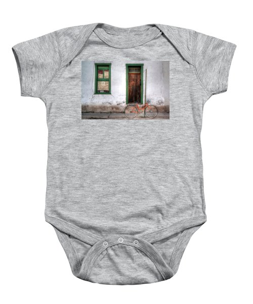 Door 345 Baby Onesie by Lynn Geoffroy