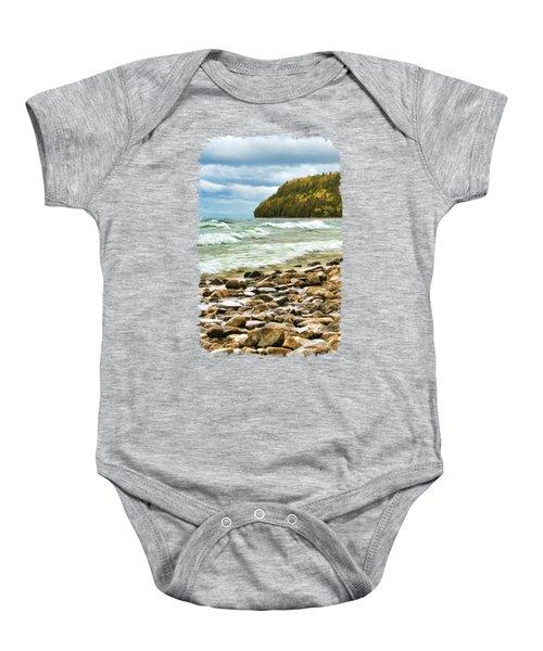 Door County Porcupine Bay Waves Baby Onesie