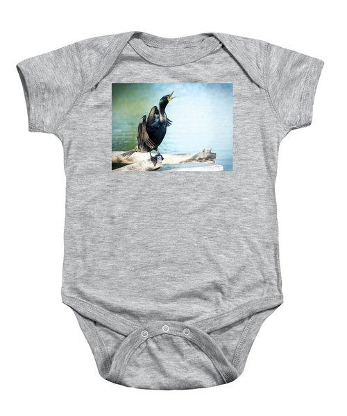 Double-crested Cormorant Baby Onesie