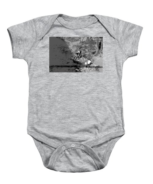 Down By The Old Mill Stream Baby Onesie