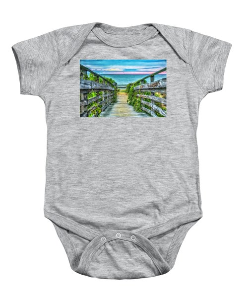 Down To The Beach Baby Onesie