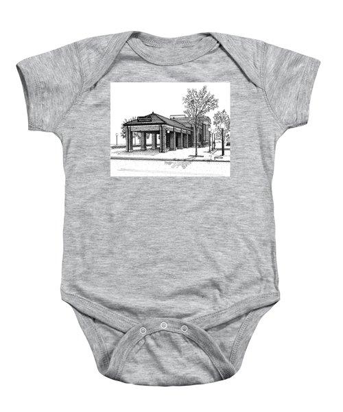 Downers Grove Main Street Train Station Baby Onesie