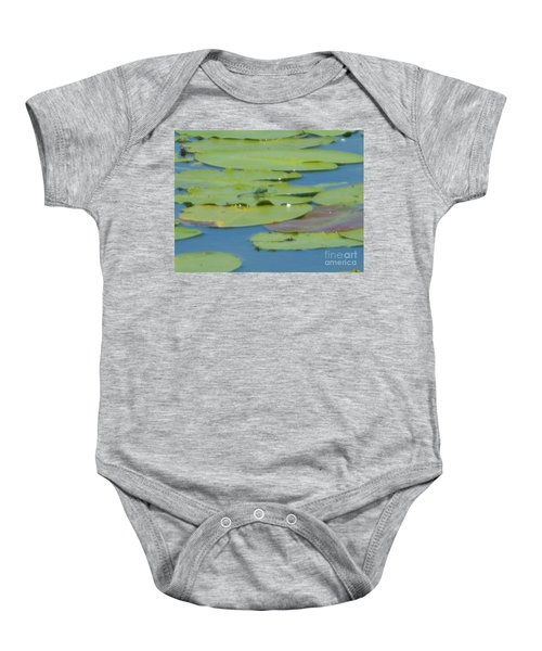 Dragonfly On Lily Pad Baby Onesie