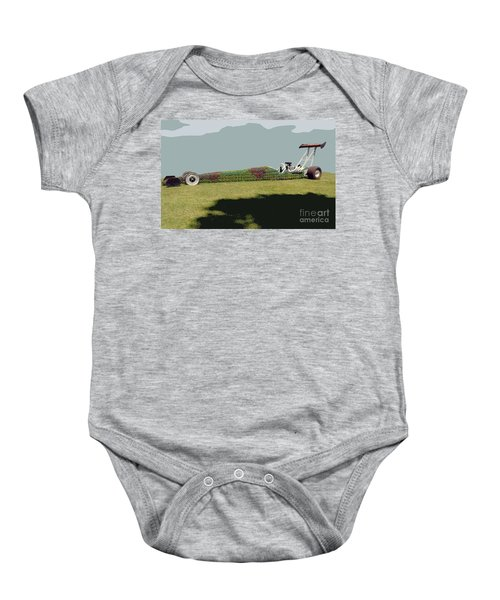 Dragster Flower Bed Baby Onesie
