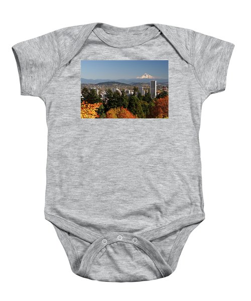 Dressed In Fall Colors Baby Onesie