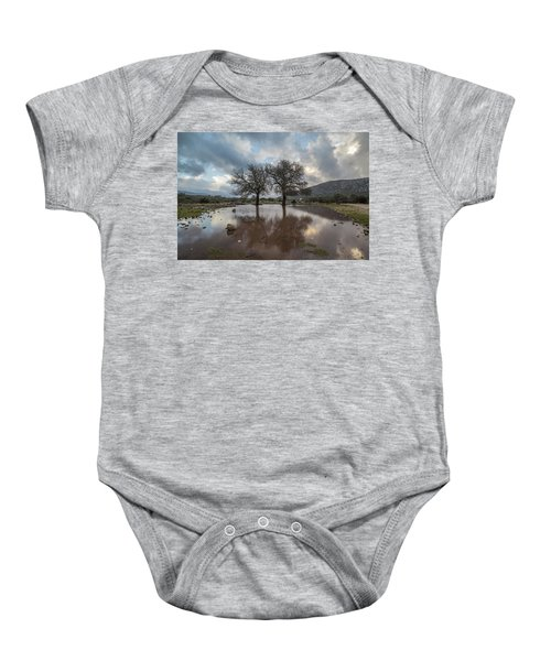 Dried Tree Reflected Baby Onesie