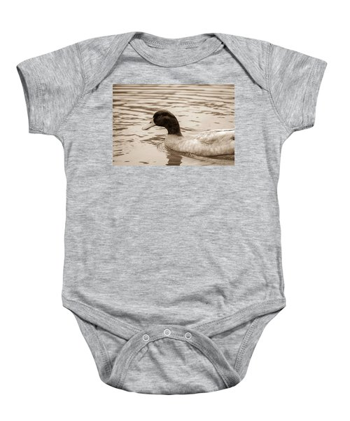 Duck In Pond Baby Onesie