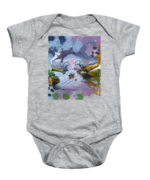 Duck Mountain Waterfall Baby Onesie