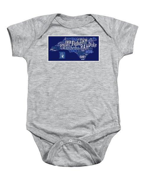 Duke - We Thy Anthems Raise Baby Onesie