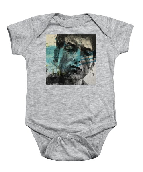 Dylan - Retro  Maggies Farm No More Baby Onesie by Paul Lovering
