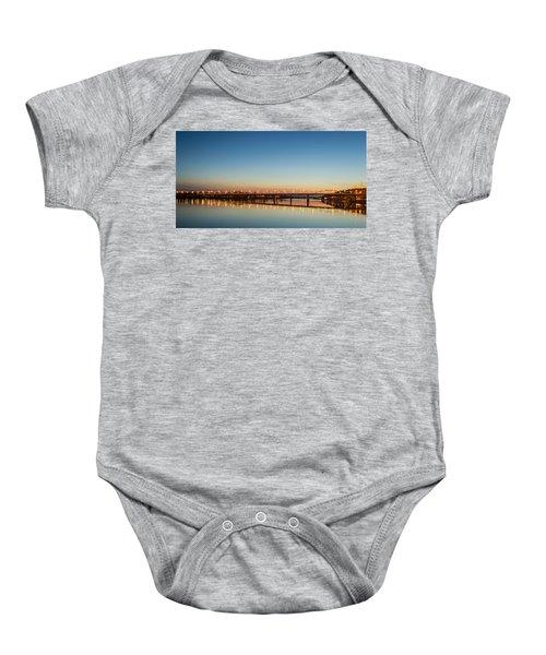Early Evening Bridge At Sunset Baby Onesie