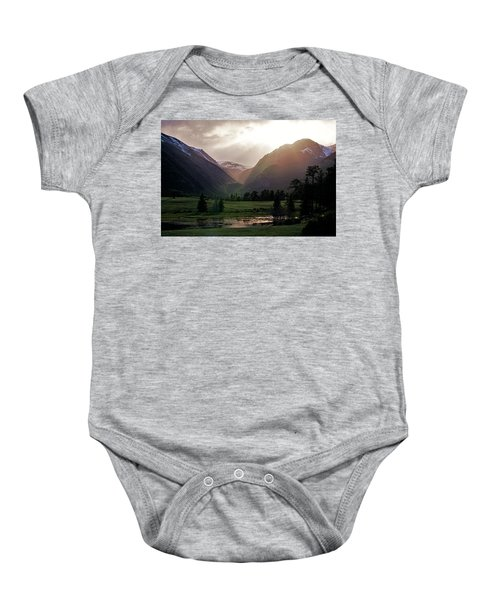 Early Evening Light In The Valley Baby Onesie