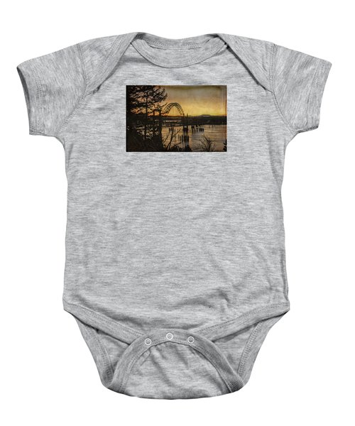 Early Morning At The Yaquina Bay Bridge  Baby Onesie