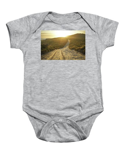 Early Morning Light On 4wd Sand Track Baby Onesie