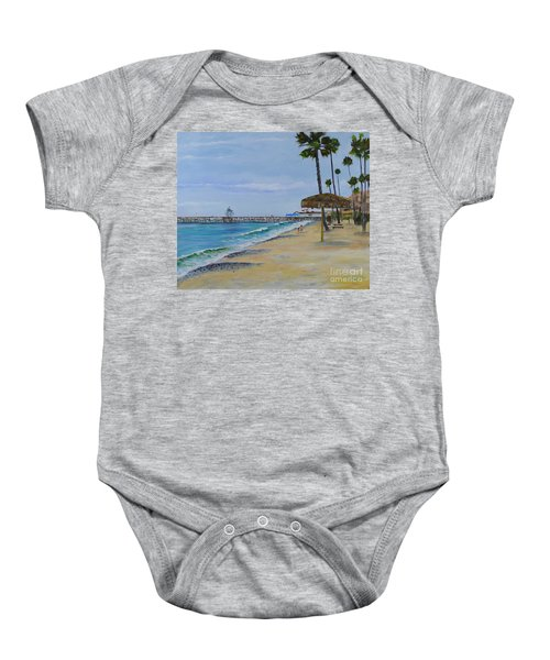 Early Morning On The Beach Baby Onesie