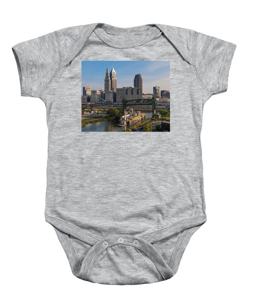 Early Morning Transport On The Cuyahoga River Baby Onesie