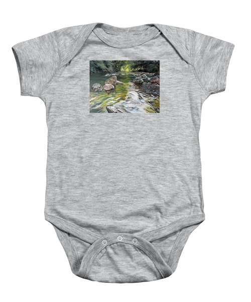 Baby Onesie featuring the painting East Okement River by Lawrence Dyer