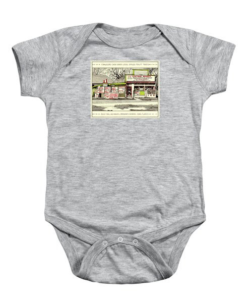 Baby Onesie featuring the painting Eastside Market by Chholing Taha