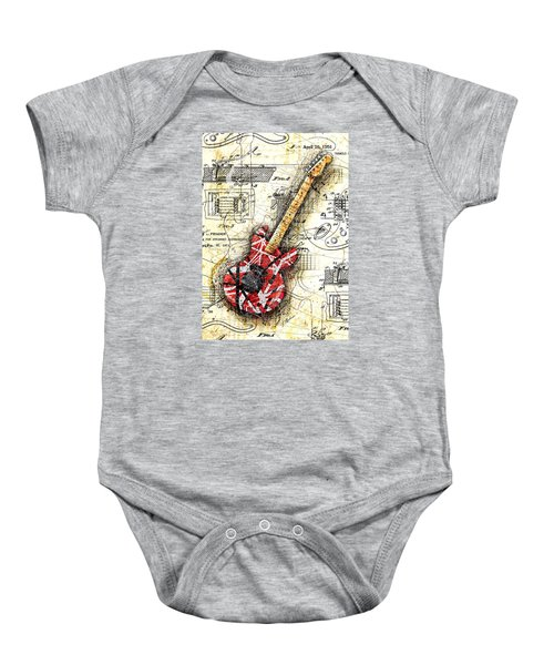 Eddie's Guitar II Baby Onesie by Gary Bodnar