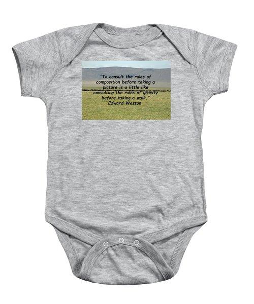 Edward Weston Quote Baby Onesie