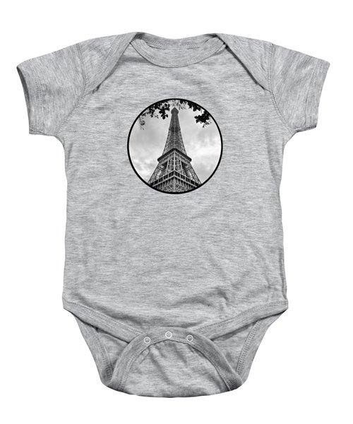 Eiffel Tower - Transparent Baby Onesie