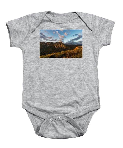 El Cajon Mountain Last Light Baby Onesie