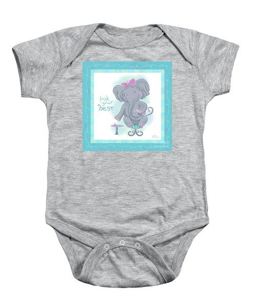 Elephant Bath Time Look Your Best Baby Onesie