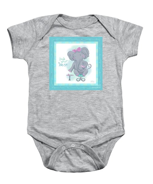 Elephant Bath Time Look Your Best Baby Onesie