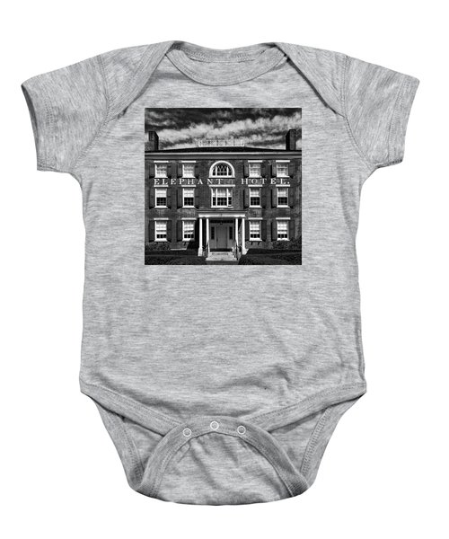 Baby Onesie featuring the photograph Elephant Hotel by Eric Lake