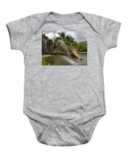 Elephant Waterfall Baby Onesie