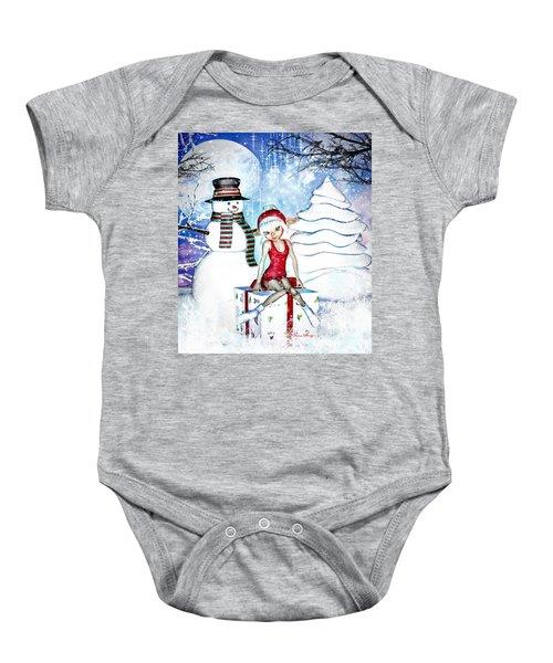 Elfin Winter Holidays Baby Onesie