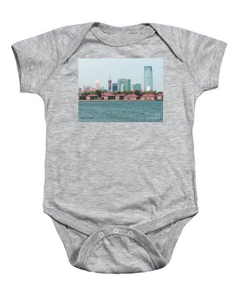 Ellis Island And Nyc Baby Onesie