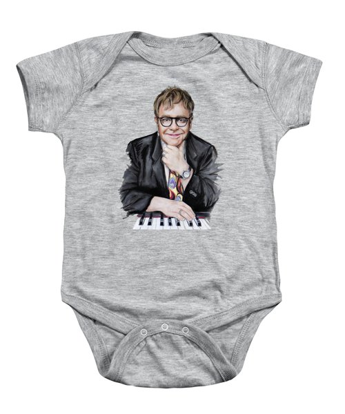 Elton John Baby Onesie by Melanie D