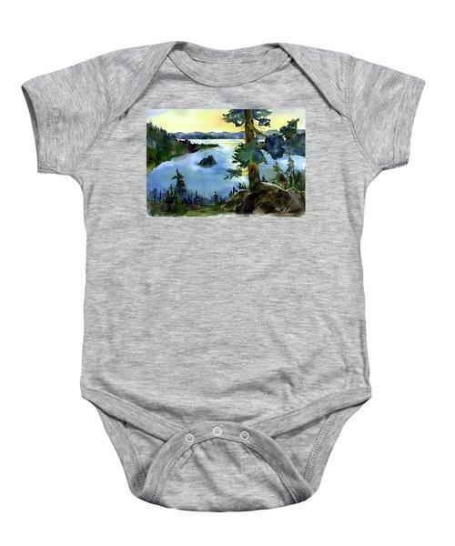 Emerald Morn, Lake Tahoe Baby Onesie