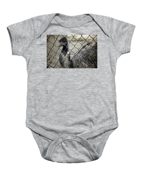 Emu At The Zoo Baby Onesie by Luke Moore