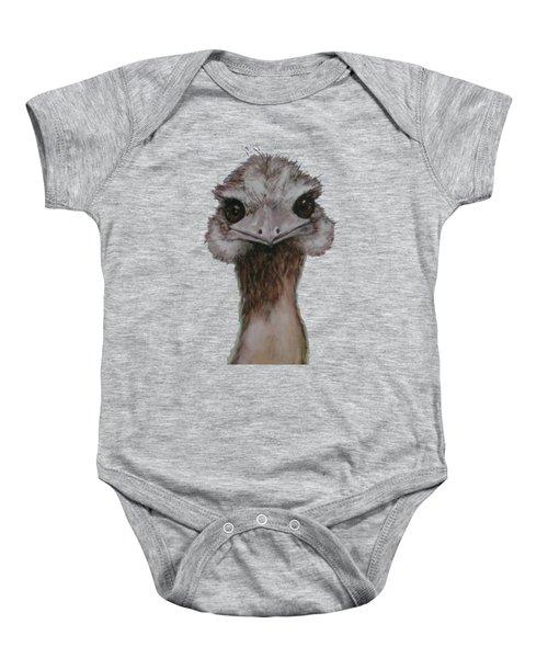 Emu Selfie Baby Onesie by Kathy Carothers