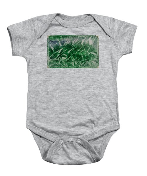 Encaustic Green Foliage With Some Blue Baby Onesie