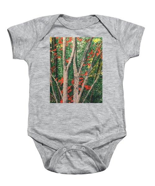 Enchanted Birches Baby Onesie