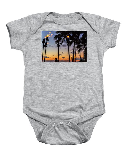 End Of The Beutiful Day.hawaii Baby Onesie
