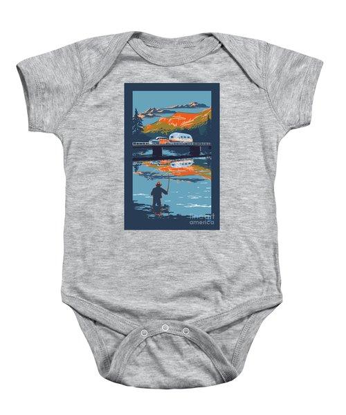Enderby Cliffs Retro Airstream Baby Onesie